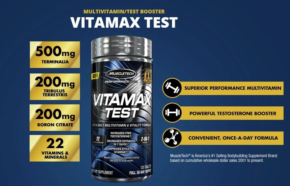 MuscleTech - Vitamax Test (120 viên) - 1 2