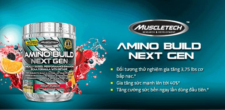 MuscleTech - Amino Build Next Gen (30 lần dùng) - 1212 1