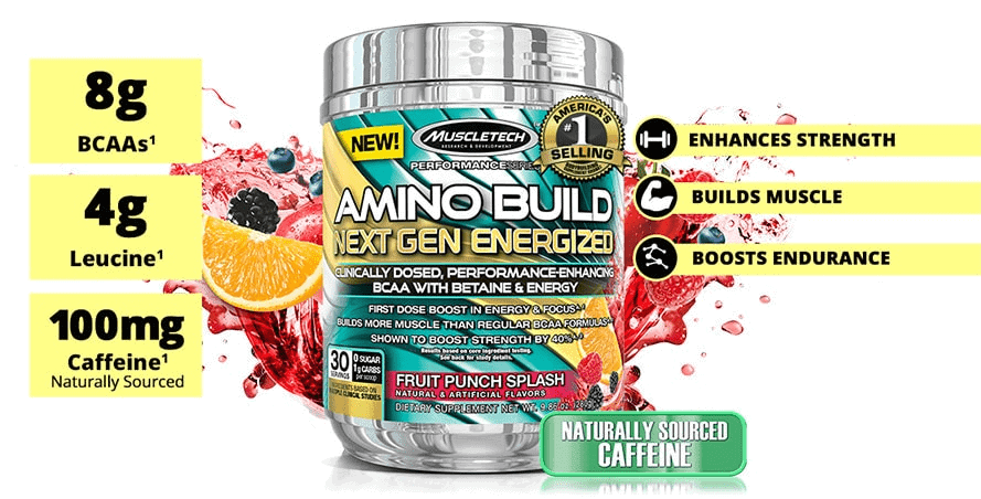 MuscleTech - Amino Build Next Gen Energized (30 lần dùng) - 133 image