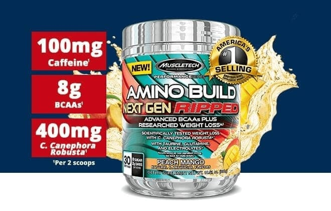 MuscleTech - Amino Build Next Gen Ripped (30 Servings) - 134 image