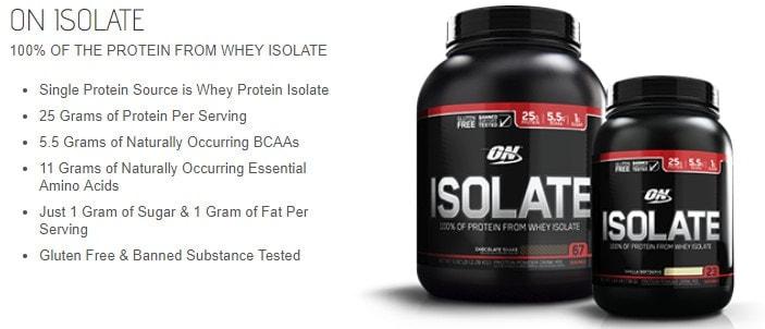 Optimum Nutrition - Isolate (5 Lbs) - 2 5