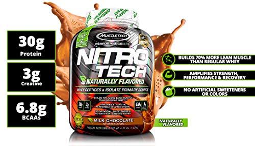 MuscleTech - Nitro-Tech Naturally Flavored (4 Lbs) - 51cycdn7kl