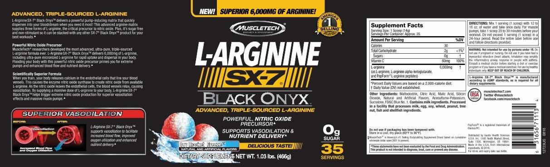 MuscleTech - SX-7 Black Onyx L-Arginine (35 lần dùng) - 71nkzmwnfrl sl1212