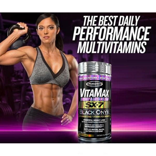 MuscleTech - VitaMax Energy & Metabolism SX-7 Black Onyx for Women (120 viên) - b0863a418694ac2ddd0d3439c7be6a53