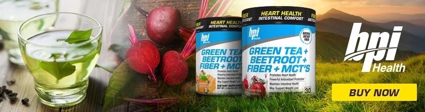 BPI Sports - Green Tea + Beetroot + Fiber + MCT's (30 lần dùng) - green tea beetroot fiber mcts