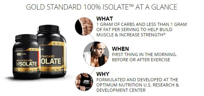 Optimum Nutrition - Gold Standard 100% Isolate (44 lần dùng) - mo ta 1