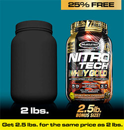 MuscleTech - Nitro-Tech 100% Whey Gold (8 Lbs) - muscletech nitro tech 100 whey gold 2