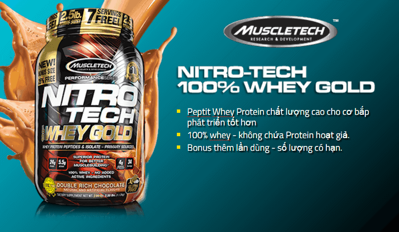 MuscleTech - Nitro-Tech 100% Whey Gold (8 Lbs) - muscletech nitro tech 100 whey gold 4