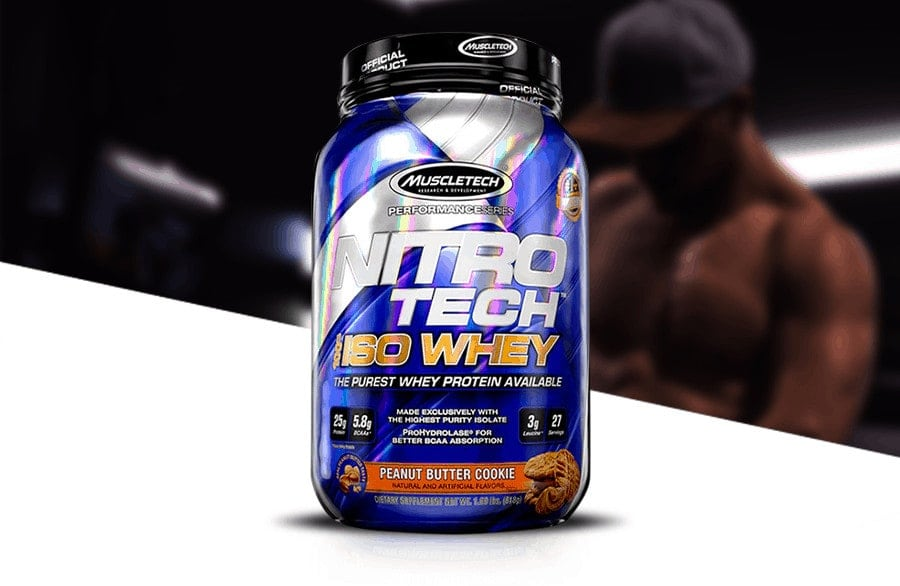 MuscleTech - Nitro-Tech 100% Iso Whey (Sample) - muscletech nitrotech isowhey pag