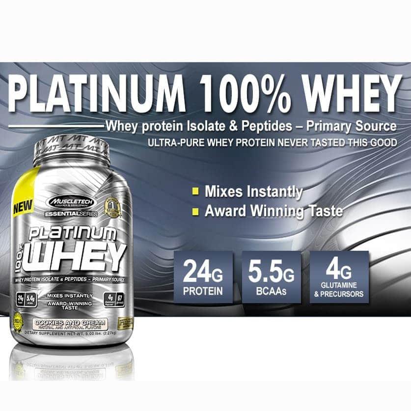 MuscleTech - Platinum 100% Iso Whey (3.34 Lbs) - muscletech platinum 100 iso whey 3 album