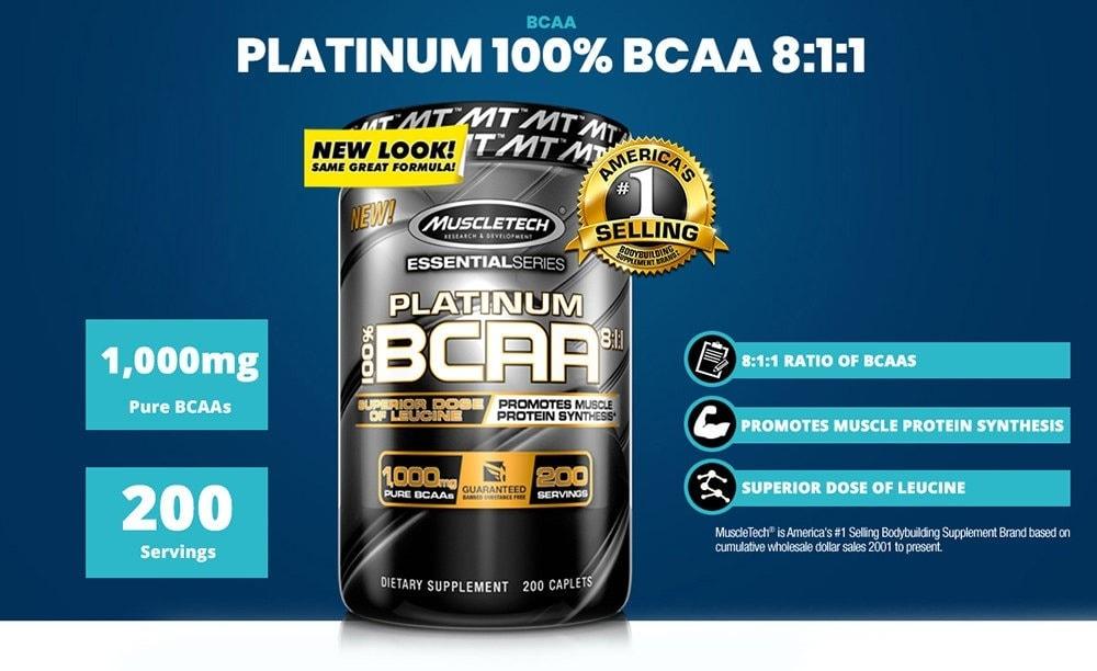 MuscleTech - Platinum BCAA 8:1:1 (200 viên) - platinum bcaa header