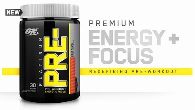 Optimum Nutrition - Platinum Pre (30 lần dùng) - platinum pre product header