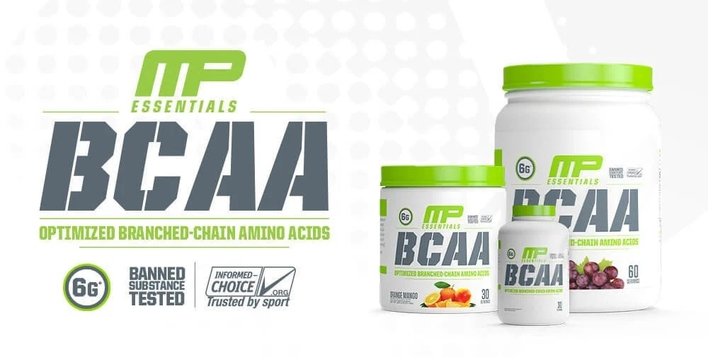 MusclePharm - Essentials BCAA Powder (30 lần dùng) - 2020 bcaaessentials leadbanner 1