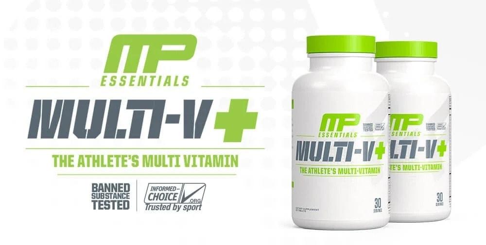 MusclePharm - Essentials Multi-V + (30 lần dùng) - 2020 multiv essentials leadbanne