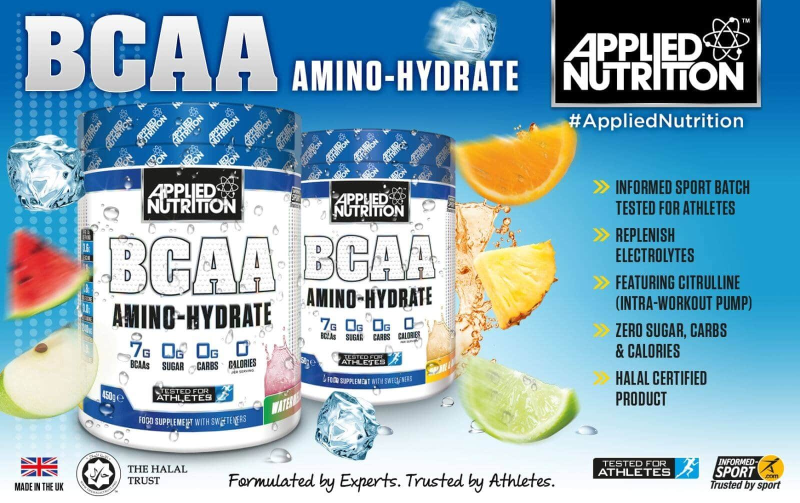 Applied Nutrition - BCAA Amino Hydrate (Sample) - applied nutrition bcaa amino hydrate 100 lan dung 1