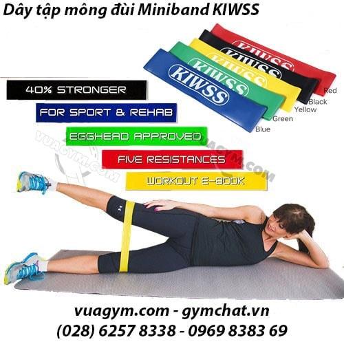Dây Đàn Hồi Miniband KIWSS (Dài 50cm) - bo 5 day thun tieu chuan tap chan mong 2