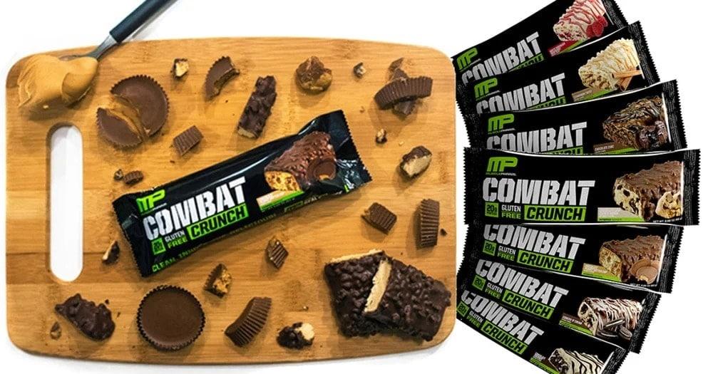 MusclePharm - Combat Crunch Bars - combat bars header