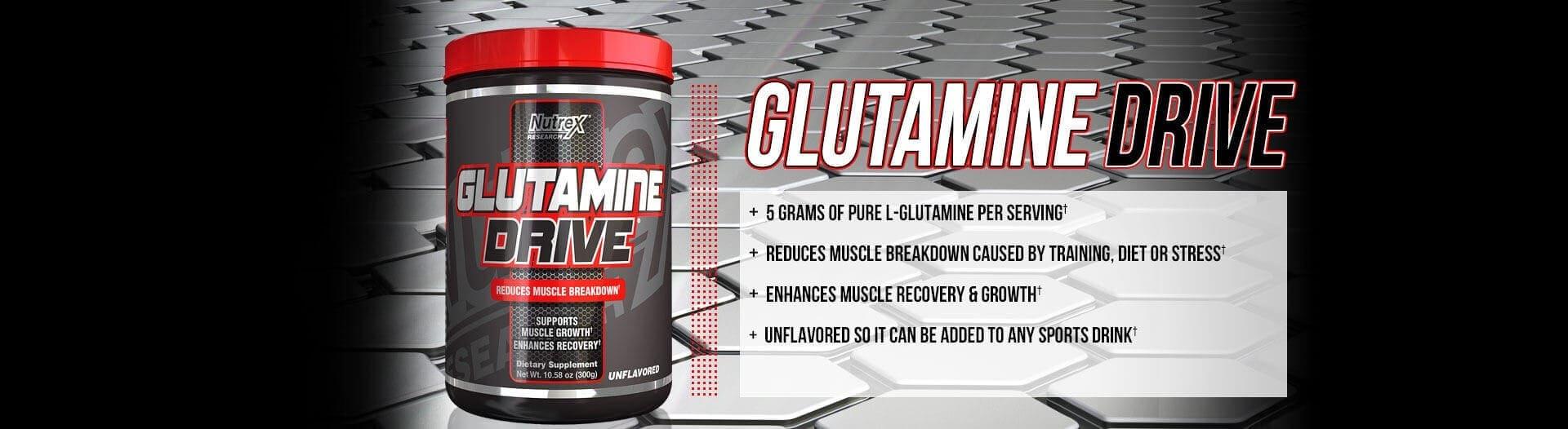 Nutrex - Glutamine Drive (150g) - glutamine drive header2