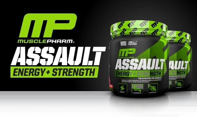 MusclePharm - Assault Energy+Strength (30 lần dùng) - header 1
