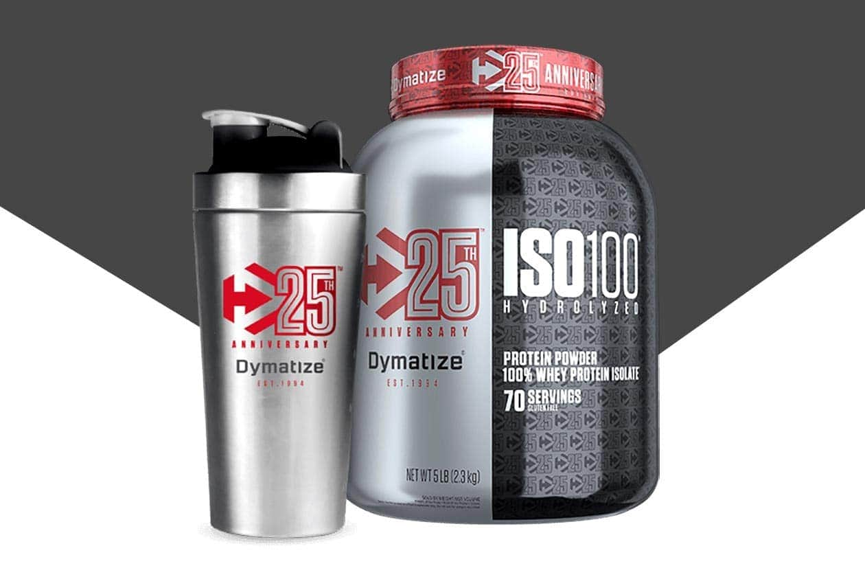 Bình Lắc Kim Loại Dymatize 25th Anniversary (800ml) - iso100 25 flavor