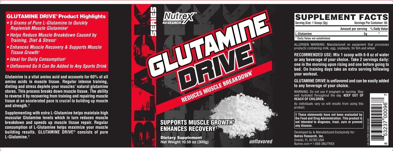 Nutrex - Glutamine Drive (150g) - lbl glutdr 10 58oz 25oz v4 us 15