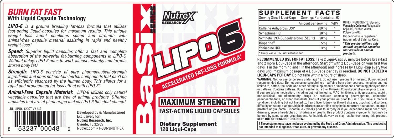 Nutrex - Lipo-6 Maximum Strength (120 viên) - lbl lipo6 120ct 300cc v5 us 1