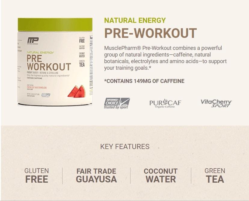 MusclePharm - Natural Pre Workout (30 lần dùng) - mo ta 3