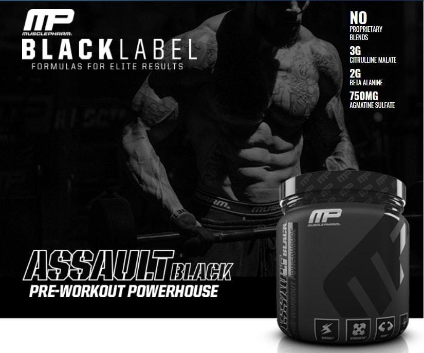 MusclePharm - Assault Black (30 lần dùng) - mo ta 5