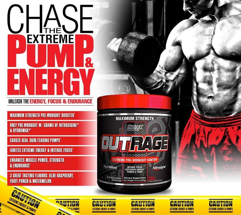 Nutrex - Outrage (30 lần dùng) - nutrex outrage super preworkout vein strength urat muscle otot puppyseven 1711 20 puppyseven1