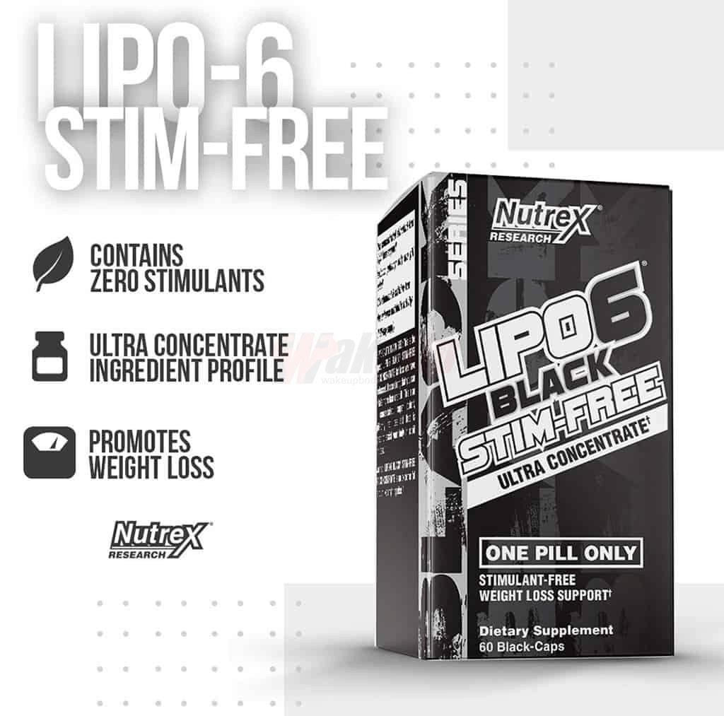 Nutrex - Lipo-6 Black Stim-Free (60 viên) - nutrex research lipo 6 black sti