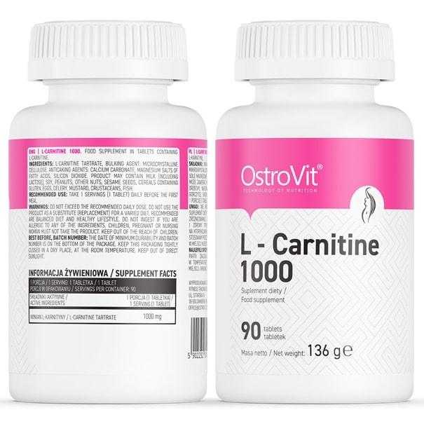 OstroVit - L-Carnitine 1000 (90 viên) - ostrovit l carnitine 1000 mota