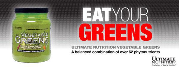 Ultimate Nutrition - Vegetable Greens (510g) - ultimate nutrition vegetable greens banner