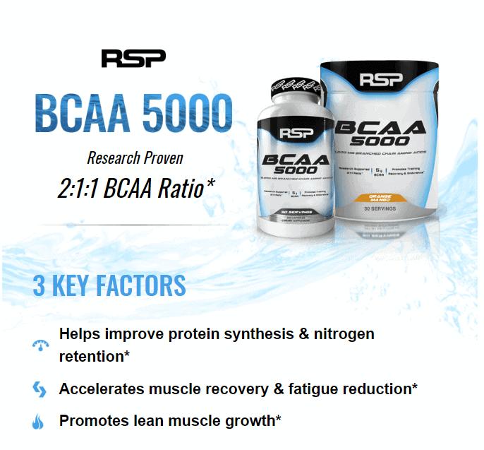 RSP - BCAA 5000 (240 viên) - 1 2