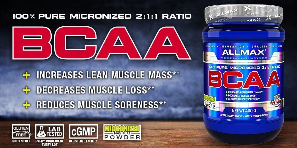 AllMAX Nutrition - BCAA 2:1:1 (80 lần dùng) - bcaa 1
