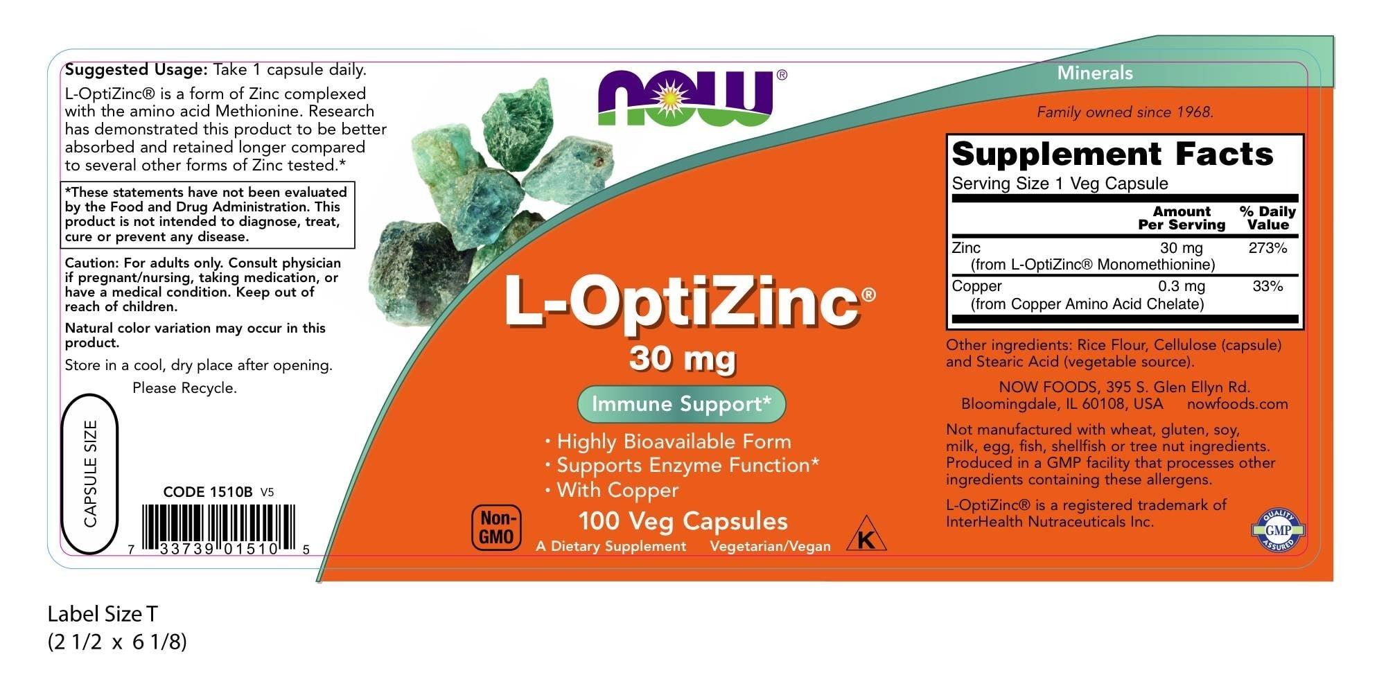 NOW - L-OptiZinc 30 mg (100 viên) - e848fc4e 6d8f 42b5 83f7 ee8a976e