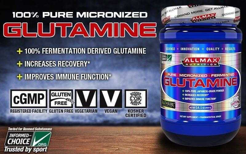 AllMAX Nutrition - Micronized Glutamine (400gram) - glutamine