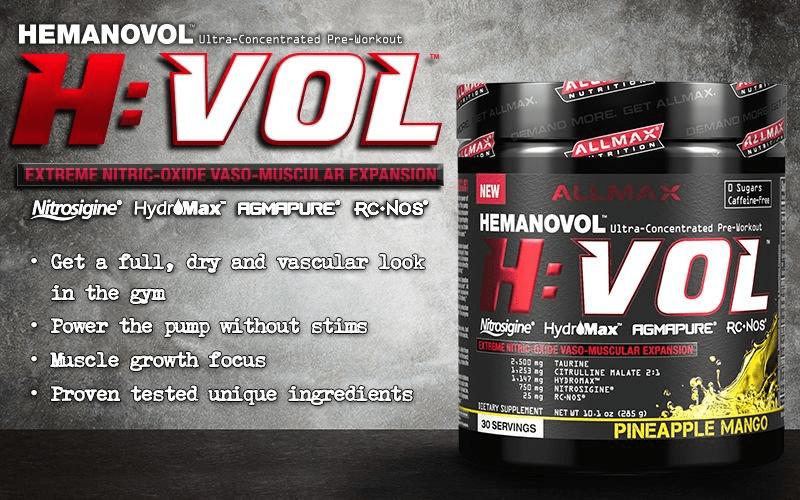 AllMax Nutrition - H:VOL (30 lần dùng) - hvol