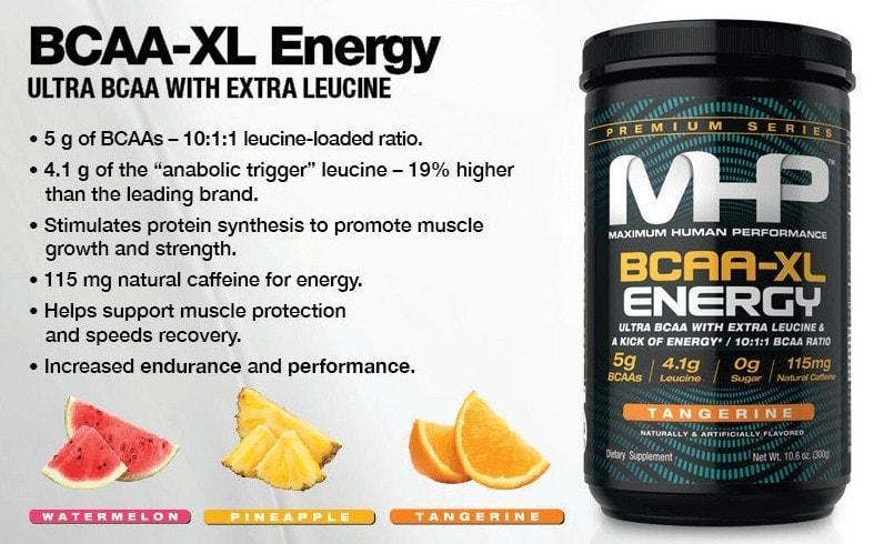 MHP - BCAA-XL Energy (30 lần dùng) - 1 2