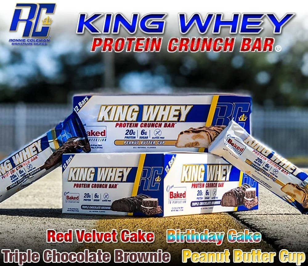 Ronnie Coleman - King Whey Protein Crunch Bar - 2018 productpages kingwheybars n