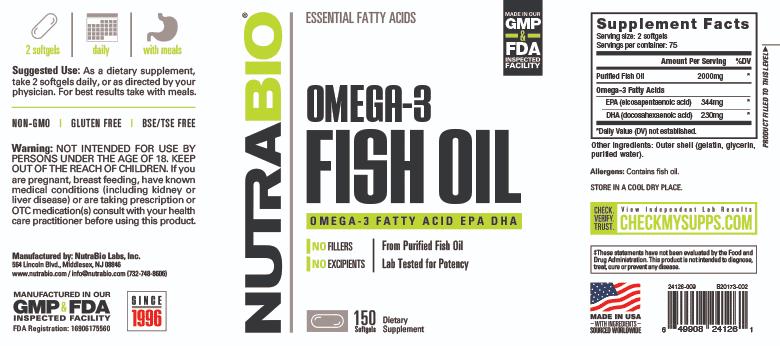 NutraBio - Omega 3 Fish Oil (150 viên) - 24126 1