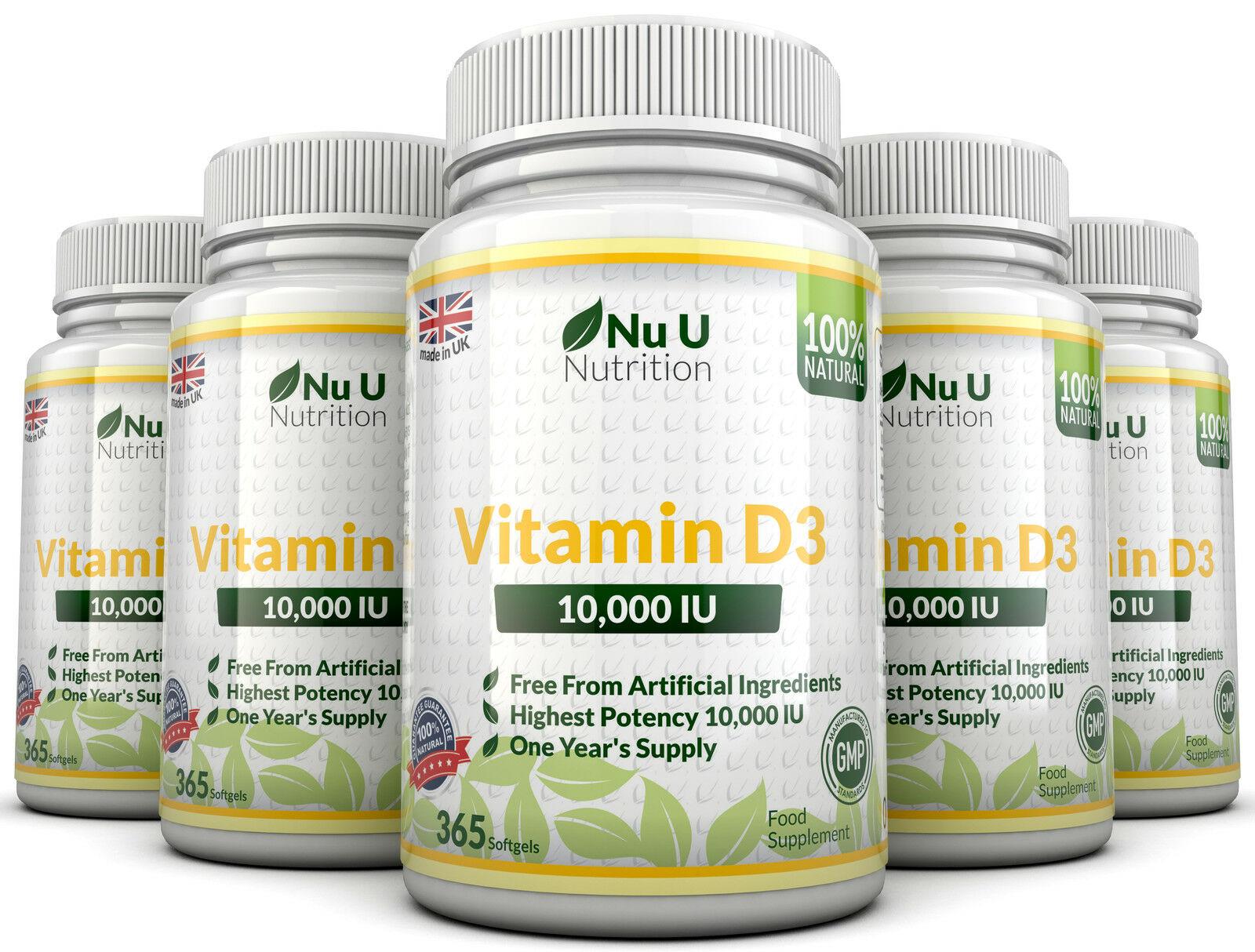 Nu U Nutrition - Vitamin D3 10,000 IU (365 viên) - 291702626408 0