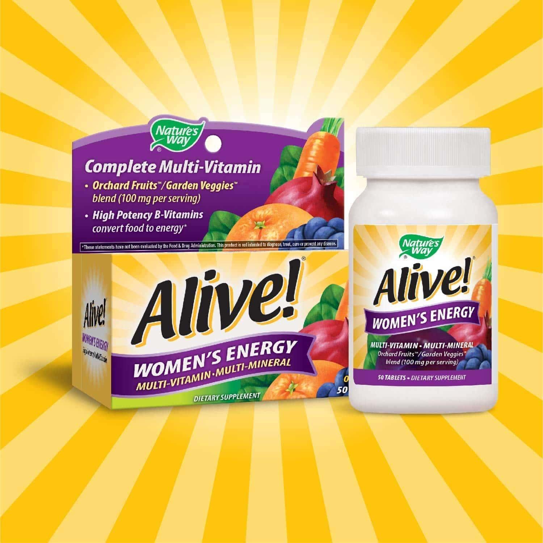Nature's Way - Alive! Women's Energy (50 viên) - 7136asfpv2l sl1500