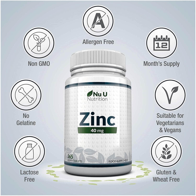 Nu U Nutrition - Zinc 40mg (365 viên) - 71bntxmrxl ac sl1500