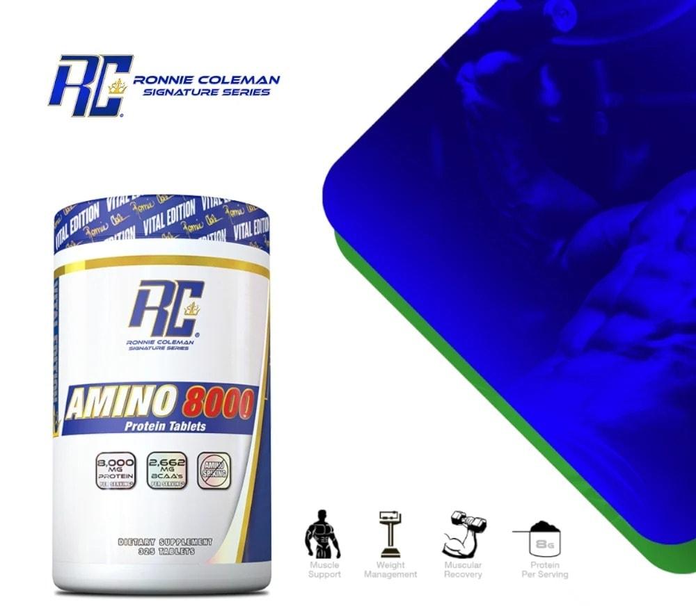 Ronnie Coleman - Amino 8000 (325 viên) - amino8000 asset