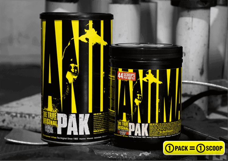 Animal - Pak Powder (44 muỗng dùng) - animal pak containers