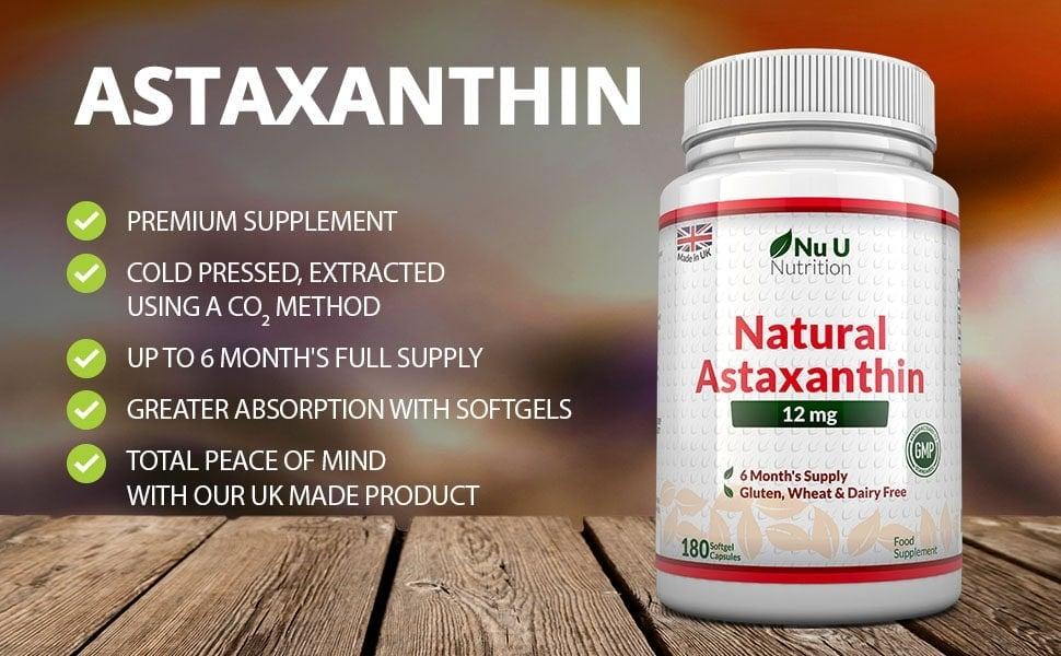 Nu U Nutrition - Astaxanthin 12mg (180 viên) - asta3
