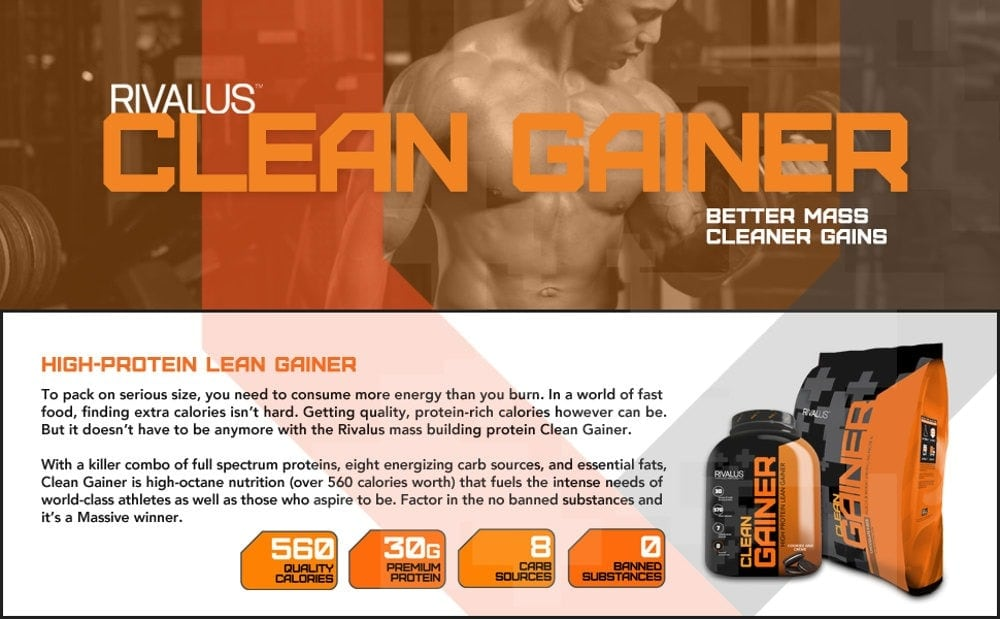 Rivalus - Clean Gainer (10 Lbs) - gainer 1
