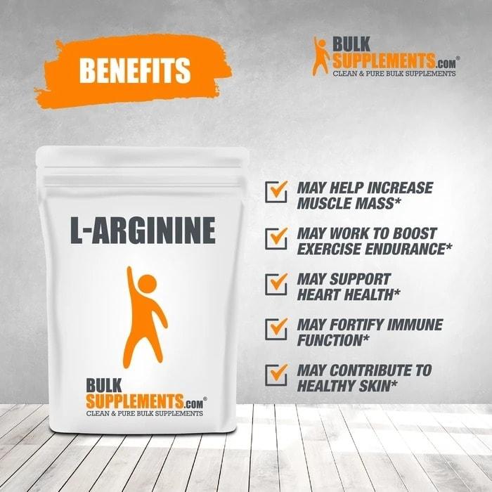 Bulk Supplements - L Arginine Base (500 gram) - l arginine benefits 700x700 1