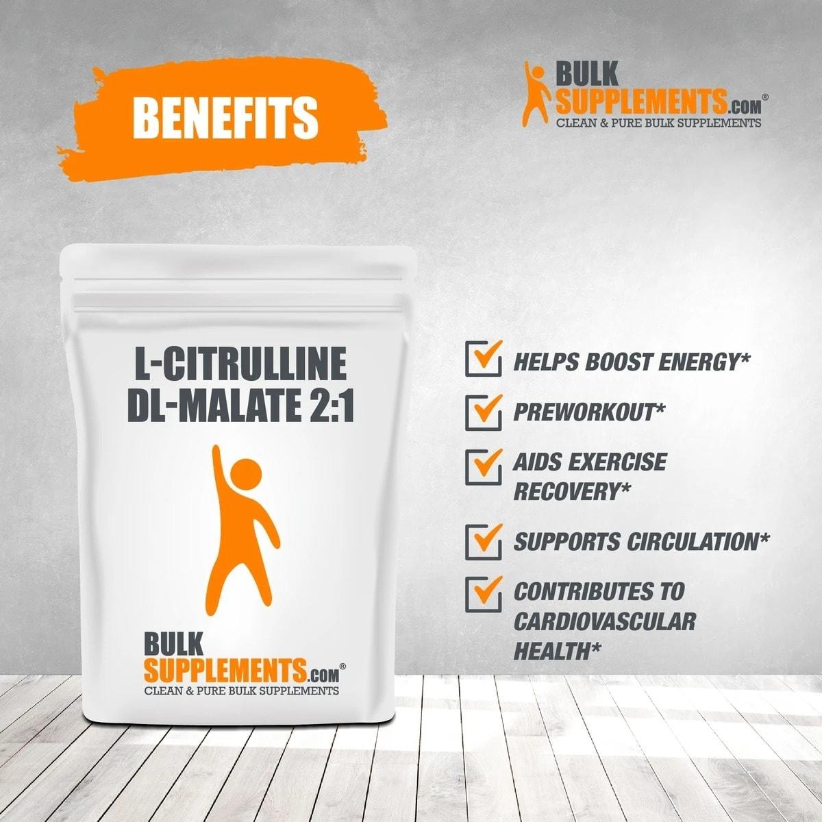 Bulk Supplements - L Citrulline DL-Malate 2:1 (500gram) - l citrulline dl malate 2 1 benef