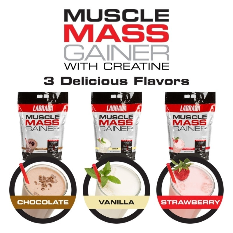 Labrada - Muscle Mass Gainer (12 Lbs) - mmg flavors12lb 800x800 1